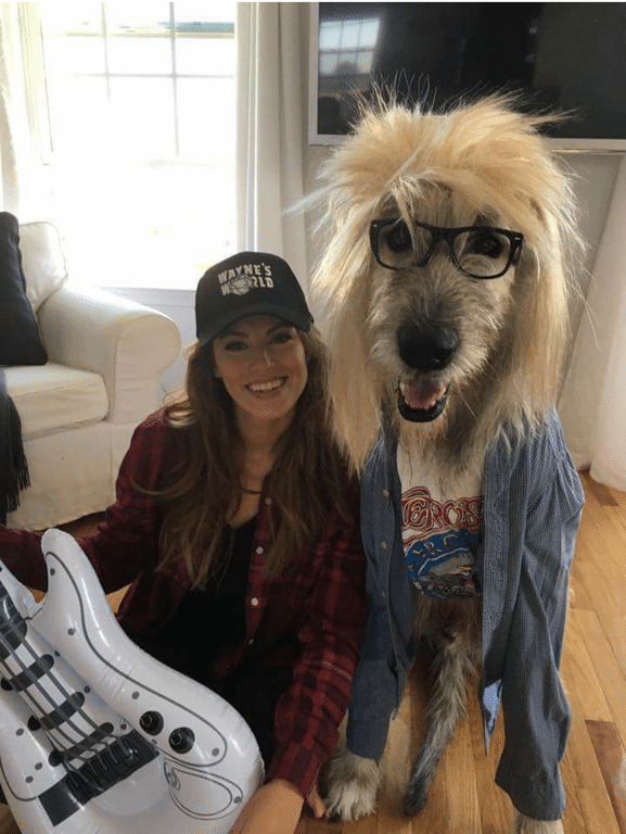waynes world dog halloween costume