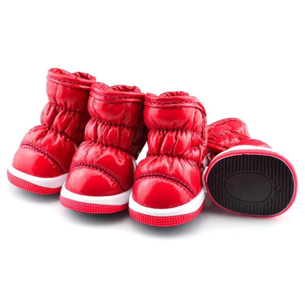 red snow booties for dogs