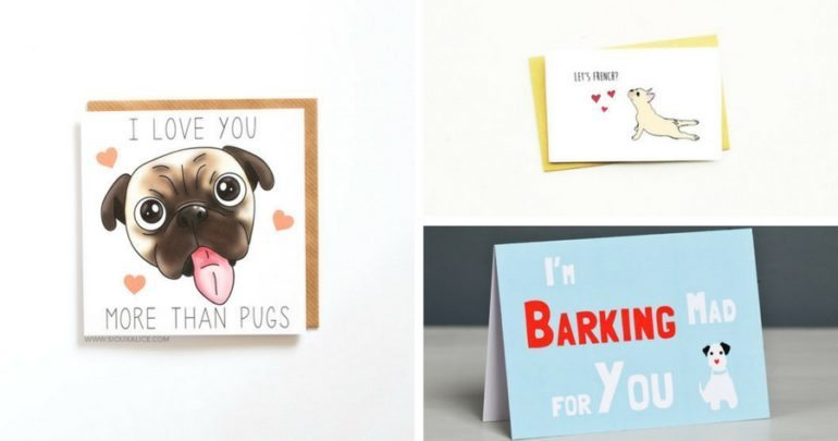 collage of pet themed valentines day card - Dog Valentines Day Cards