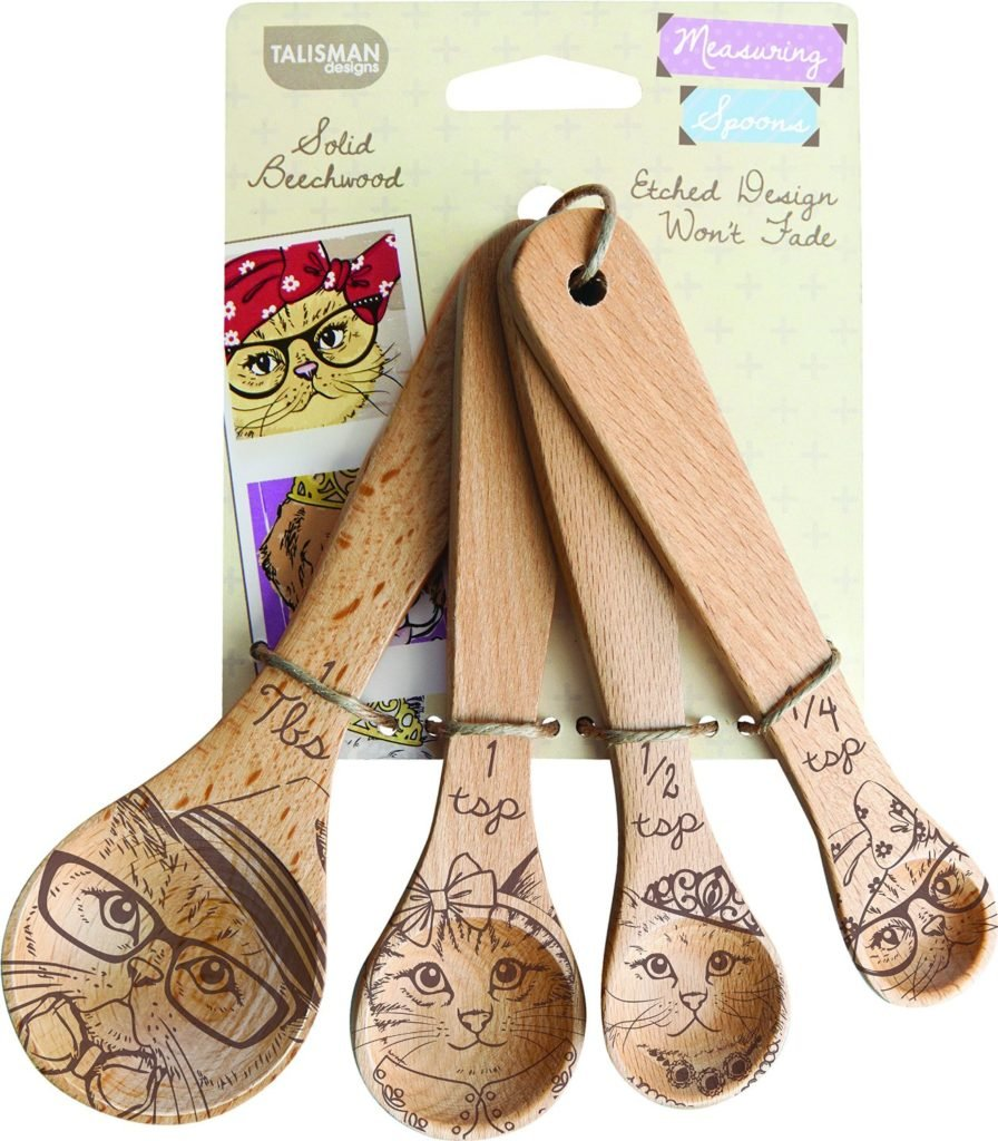 cat wooden spoons