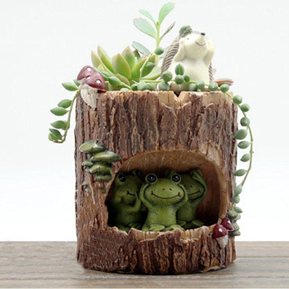 succulent animal planter