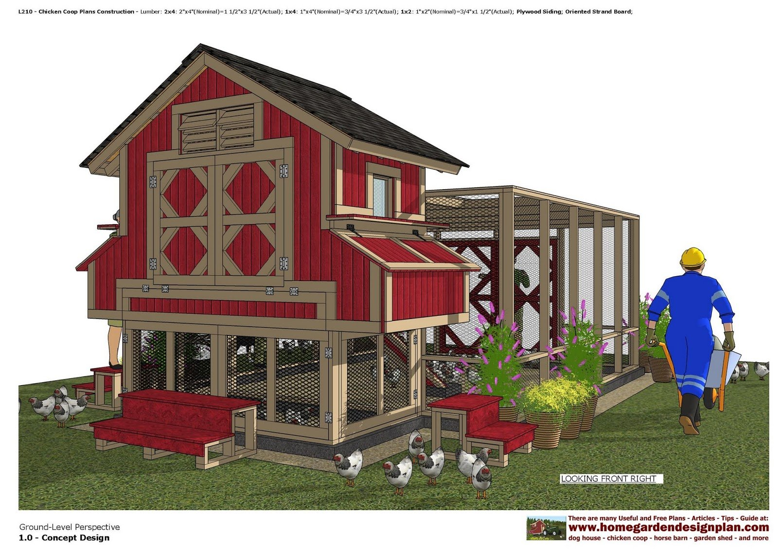 9 diy chicken coop plans for medium to large flocks Home get design