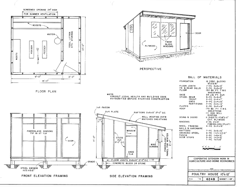 medium chicken coop plans