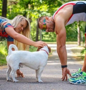 human and dog exercise