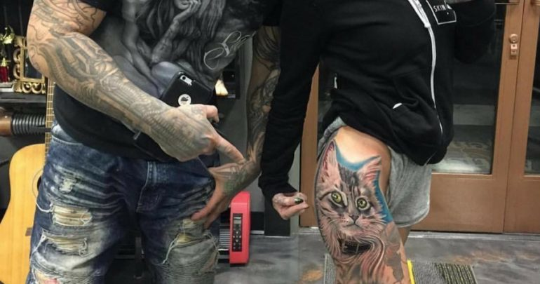 f062e9f88 German Model Gets Tattoo with Ink Made out of Cat Hair