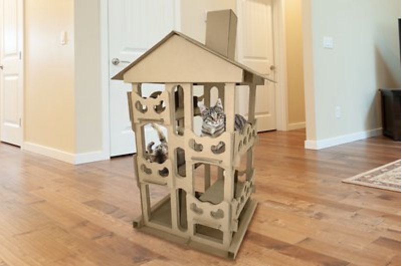 Tiger Tough Tower Playground Corrugated Cat Scratcher House
