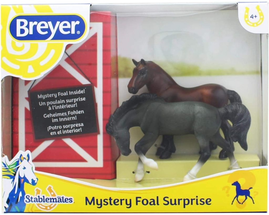 Breyer Mystery Foal Surprise Horse Box Toy | 1-32 Scale | Model #5938
